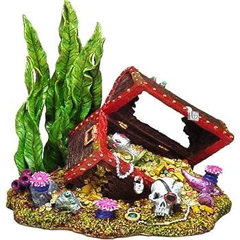 Exotic Environments Sunken Treasure Chest Aquarium Ornament