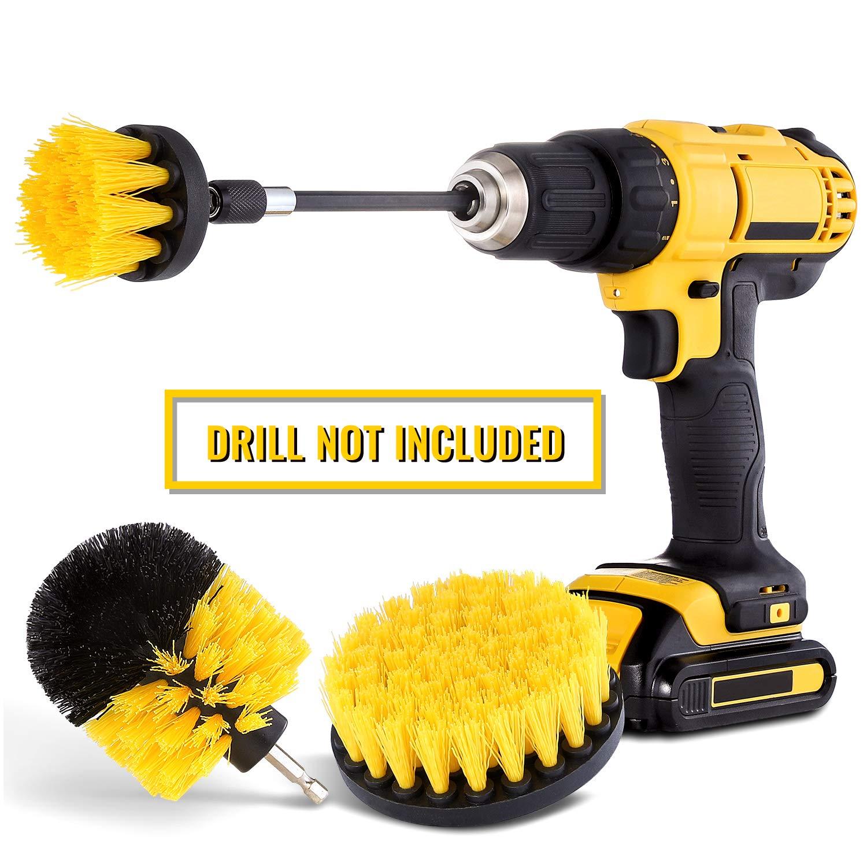 Drill Brush Attachment Set Scrubber