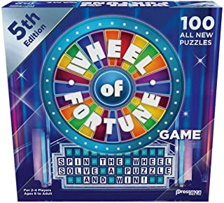 """Pressman 5563-06 Wheel of Fortune Game: 5th Edition - Spin The Wheel, Solve A Puzzle, And Win 5"""""""