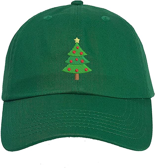 Prfcto Lifestyle Christmas Tree Baseball Cap- Christmas Party Hats Unisex
