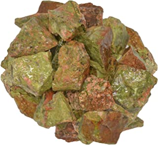 Digging Dolls: 1 lb of Unakite Rough Stones from India - Raw Rocks Perfect for Tumbling, Lapidary Polishing, Reiki, Crystal Healing and Crafts!