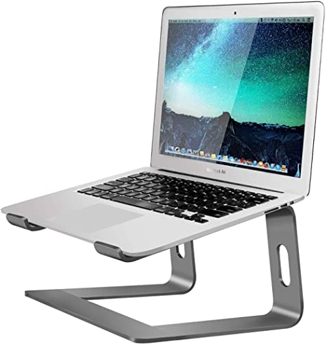 Soundance Aluminum Laptop Stand for Desk Compatible with Mac MacBook Pro Air Apple Notebook, Portable Holder Ergonomi...