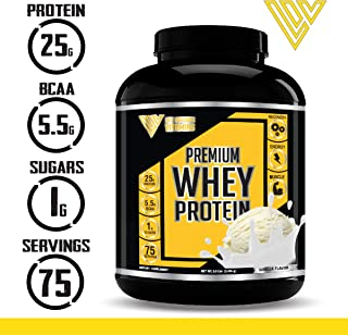 100% Grass Fed Whey Protein Powder ISO 100, 5.5 lbs, Non-GMO, Low Carb, Low Sugar, Keto Friendly, Paleo Friendly, Pure Protein Meal Replacement Protein Powder, Made in USA with American Ingredients
