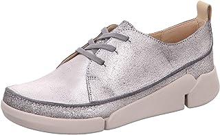 Clarks Women Tri Clara Leather Sneakers