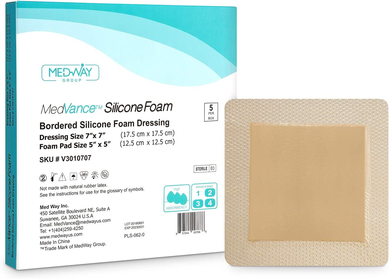MedVance TM Silicone Max 61% OFF - Adhesive Foam Over item handling ☆ Dressing Bordered