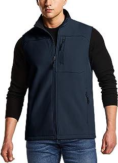 Sponsored Ad - TSLA Men`s Sleeveless Softshell Vest, Full-Zip Windbreaker Vest, Outdoor Golf Travel Hiking Vest