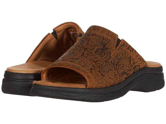 Ariat  Bridgeport Sandal (Wheat Floral Emboss) Womens Sandals