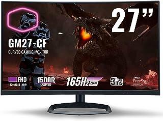 Cooler Master GM27-CF Curved Gaming Monitor - 27 Inch 1500R FHD (1920 x 1080) 165 Hz, 3ms GTG, VA Panel, AMD FreeSync Prem...