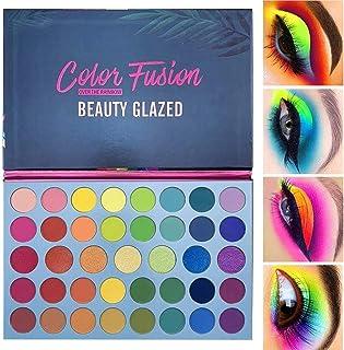flower205 Fard À Paupières Mat Paillettes 39 Couleurs, Palette Palette Shimmer Rainbow High Pigment Makeup Palette Fête De...