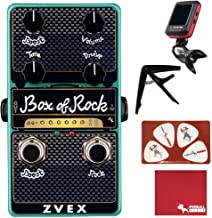 ZVEX Vexter Box of Rock Vertical Distortion Effects Pedal with Polish Cloth, Pick Card, Tuner, and Capo