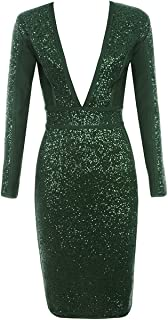 Best green sequin plunge dress Reviews