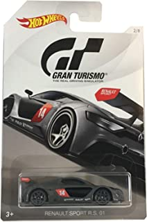 Hot Wheels RENAULT SPORT 2018 GRAN TURISMO Series #2 Gray RENAULT SPORT R.S. 01 1:64 Scale Collectible Die Cast Metal