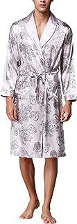 Dolamen Men's Dressing Gown Bathrobe Satin, Silky Soft & Lightweight Luxury Men's Kimono Dressing Gown Bath Robe Bridesmai...