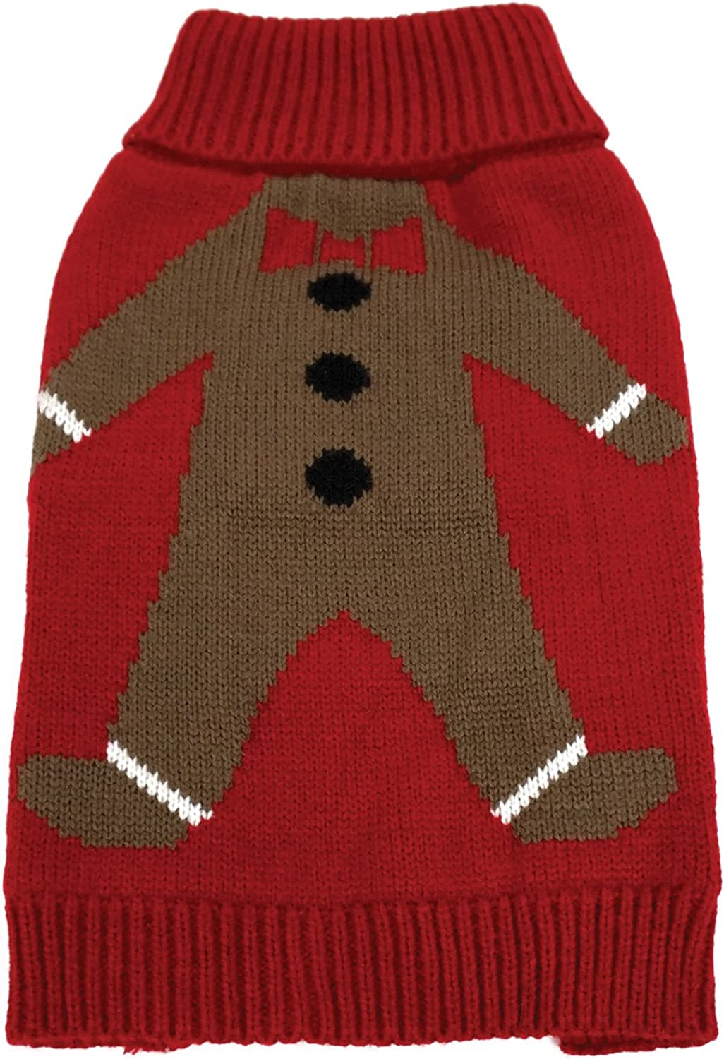 FouFou Dog 62601 Gingie Ugly Christmas Sweater for Dogs, 2XLarge