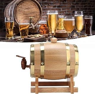 Labuduo 1,5L / 3L Vintage Bois Chêne Bois Fût à Vin Bière Whisky Rum Port Tonneau en Bois