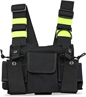 ALOFTT Radio Chest Harness Chest Front Pack Pouch Holster Vest Rig for Two Way Radio Walkie Talkie