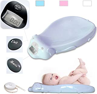 Todeco - Balanza para Bebes, Balanza Eléctrica para Bebés - Tamaño: 65,4 x 33,2 x 11,6 cm - Carga máxima: 20 kg - Azul