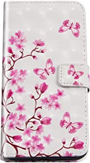 Kompatibel med Huawei Mate 20 Pro mobiltelefonfodral läderfodral, PU läderväska fjäril mönster magnetiskt fällbart fodral ...