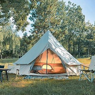 4M Tält vattentätt dubbelt lager camping indiskt tipitält barn tält campingtält glamping tält trädgårdstält för alla årsti...
