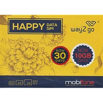 mobifone ベトナム プリペイドSIM 30日間 4G・3Gデータ通信10GB