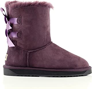 UGG Boots Short Cuff Roll Women Winter Shoes Premium Australian Sheepskin, Black