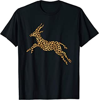 Gazelle Leopard Print Antelope Buck Animal Lover Women Gift T-Shirt