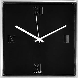 Kartell 0190009Tic et Tac Horloge, Plastique, Noir, 30x 30cm