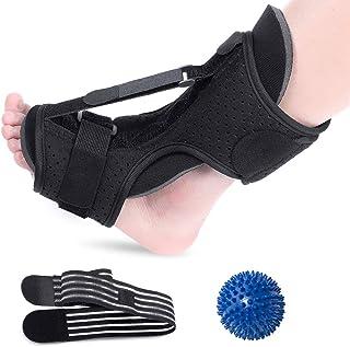 Plantar Fasciitis Night Splint Foot Drop Orthotic Brace, Adjustable Elastic Dorsal Night Splint for Plantar Fasciitis, Orthotic Brace Sleep Support Pain Relief from Tendonitis, Heel, Arch (Blue)