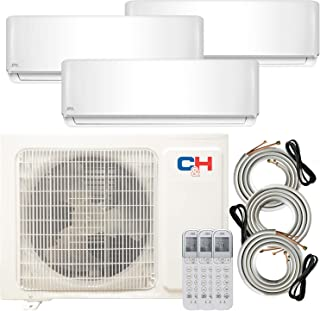 COOPER AND HUNTER Multi Zone Tri 3 Zone 12000 12000 18000 Ductless Mini Split Air Conditioner Heat Pump Full Set WiFi Ready