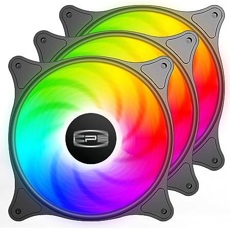 CP3 ventilateur 120mm 3 broches couleur fixe ventilateur pc haute performance ventilateur de boîtier LED à faible bruit avec roulement hydraulique pour boîtier d'ordinateur de jeu (paquet de 3)