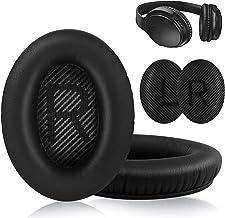 Bose Quiet Comfort 35 almohadillas de repuesto para orejas Bose QC 35/35II hechas de espuma viscoelástica de piel de cordero (Negro)