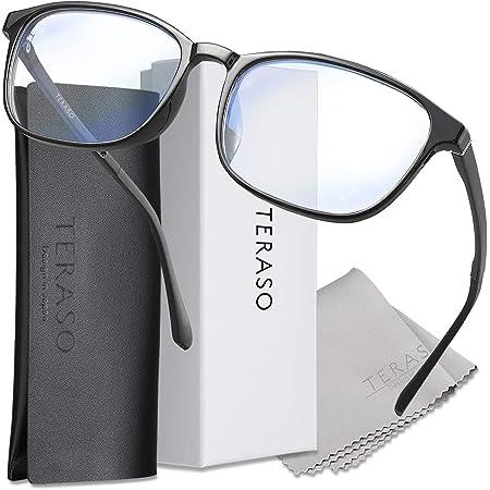 TERASO【最新改良】ブルーライトカットメガネ ブルーライトカット メガネ おしゃれ【眼科検査技師推薦】超軽量 JIS規格 43% UV99% Tr90 パソコン用 だてめがね