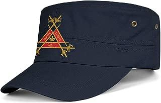Men Womens Military Caps Montecristo-Logo- Adjustable Cadet Army Caps Baseball Hats Flat Top Cap