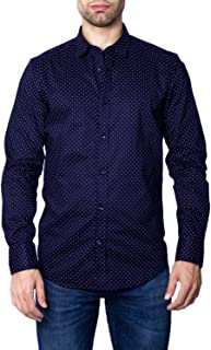 Antony Morato Man Long Sleeve Shirt abbottonatura a Vista Slim fit mmsl00574-fa430403 56 (XXXL) Blue