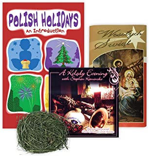 Pack containing Wafers, Bag of Hay, Instrumental Cd with A Koledy-Carols Evening with Stephen Kaminski, 28 Pages Polish Ho...