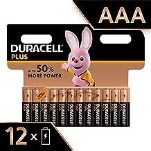 Duracell Plus, lot de 12 piles alcalines Type AAA 1,5 Volts LR03 MN2400 (visuel non contractuel)
