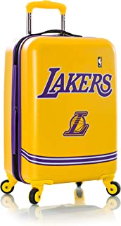 "Heys America Los Angeles Lakers Officially Licensed Unisex 21"" Expandable Carry-On Spinner Luggage"