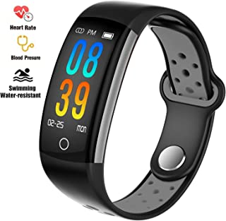 feifuns Smart Fitness Tracker Watch - Heart Rate Blood Pressure Sleep Monitor with IP68 Waterproof, Calorie Counter Pedometer Watch for Women Men and Kids
