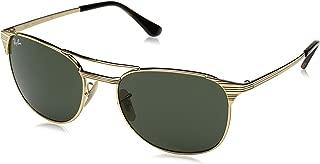Mens 0RB3523 Polarized Aviator Sunglasses, Matte Brown