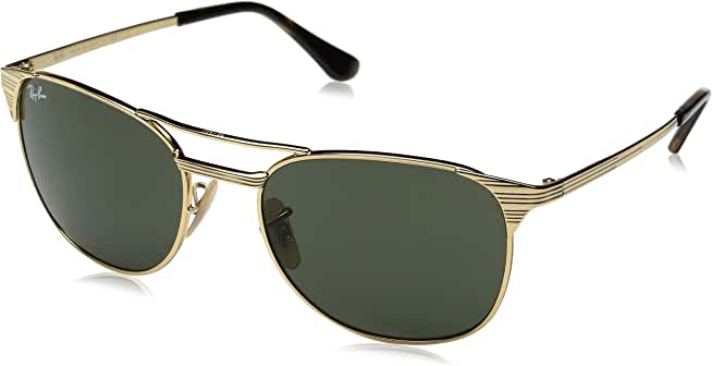 Ray-Ban Signet Men's Gold-Tone Pilot Sunglasses w/ Glass Lens
