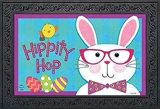"""Briarwood Lane Hippity Hop Bunny Easter Doormat Chick Humor Indoor Outdoor 18"""" x 30"""""""
