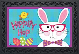 "Briarwood Lane Hippity Hop Bunny Easter Doormat Chick Humor Indoor Outdoor 18"" x 30"""