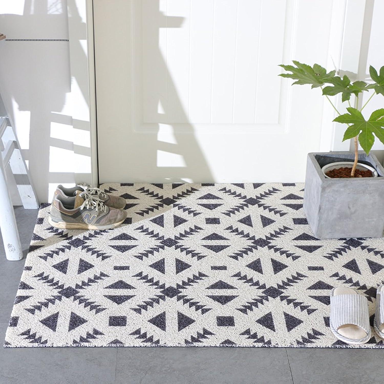 Plastic Doormats, PVC Non-Slip Wear-Resistant Mat, Kitchen Entrance Hallway Balcony, Floor Mat-A 16x47inch