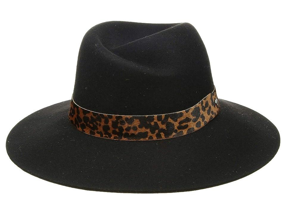 Women's Vintage Hats | Old Fashioned Hats | Retro Hats rag  bone Zoe Fedora Black 1 Fedora Hats $225.00 AT vintagedancer.com
