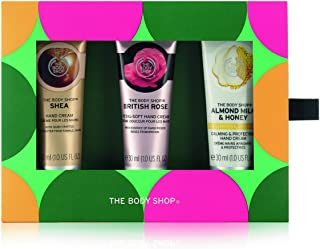 The Body Shop Caring Hand Creams Trio Gift Set, 3pc Set of Paraben-Free Hand Creams