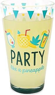 Pavilion Gift Company Party like a Pineapple 16 oz Pint Glass Tumbler