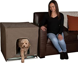 Pet Gear Pro Pawty, Potty Training Aid for Pee Pad/Grass Patch, Removable Tray Holds Pad Included, Hides Messes, Optional Wall Guard, Dog Litter Box