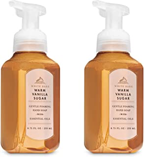 Bath and Body Works Gentle Foaming Hand Soap, Warm Vanilla Sugar 8.75 Ounce (2-Pack)