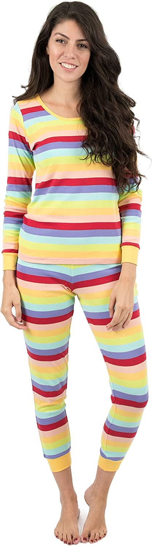 Leveret Womens Pajamas colorful 2 Piece Pajama Set 100% Cotton Size XLarge
