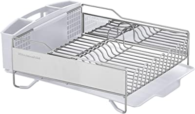 Kitchenaid KNS896BXWHA Stainless Steel Full Dishrack, One Size, Satin White
